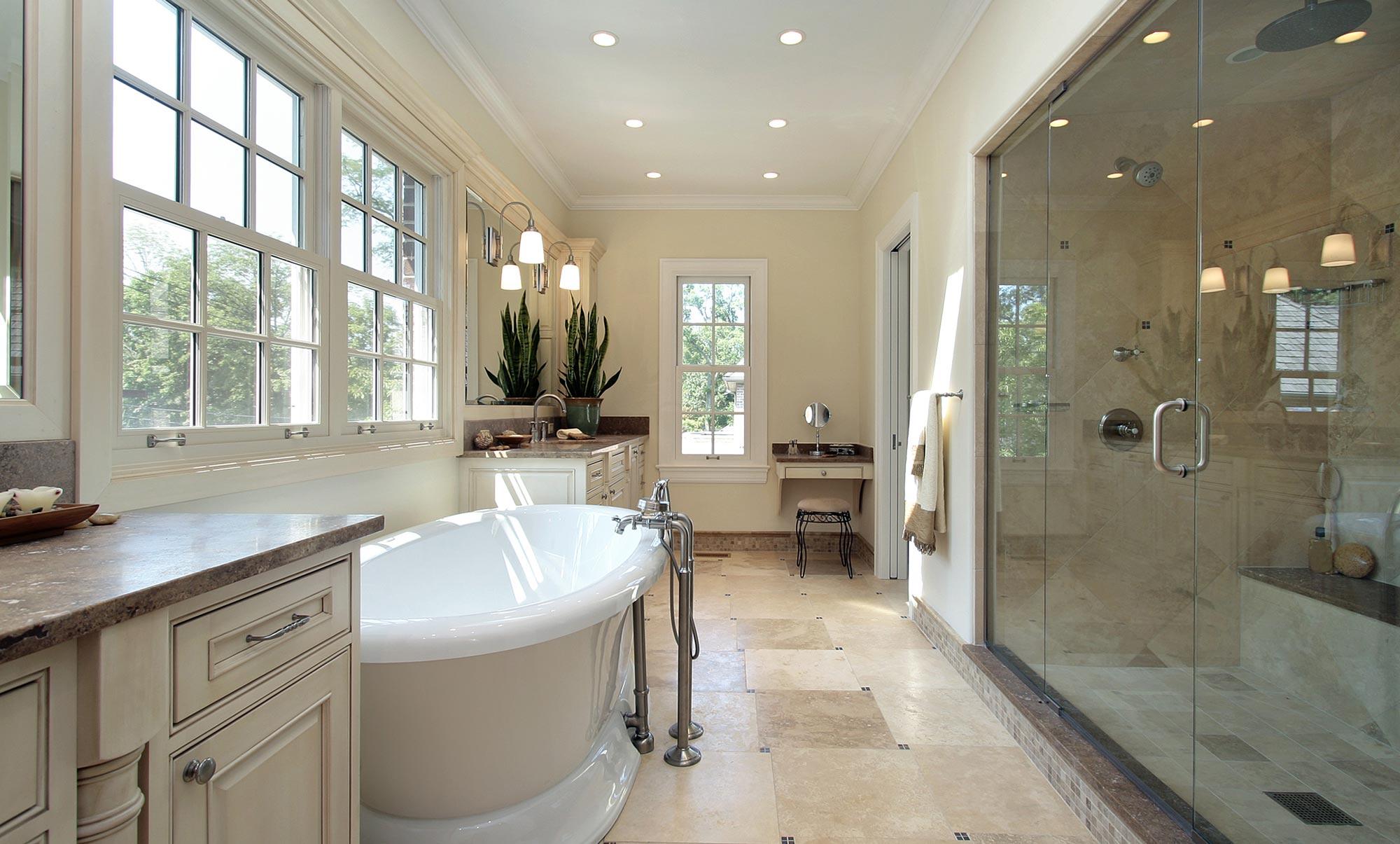 classic master bathroom design oakland