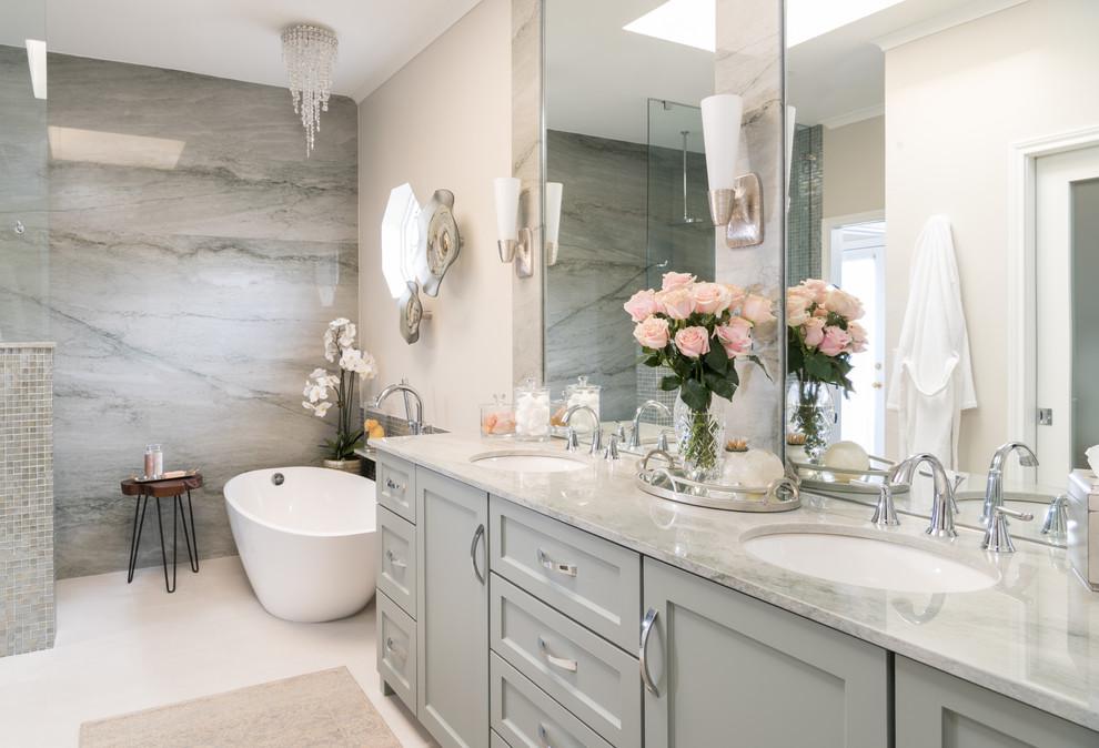 modern bathroom renovation oakland