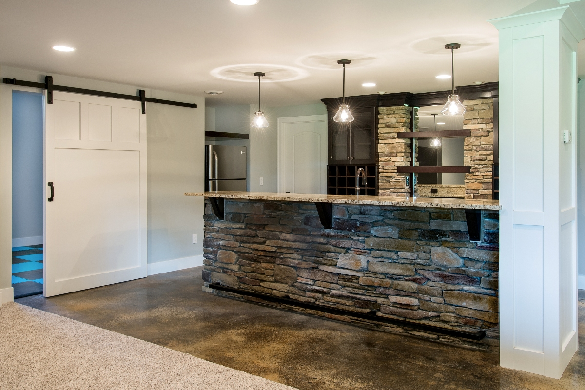 basement with kitchen wine bar oakland