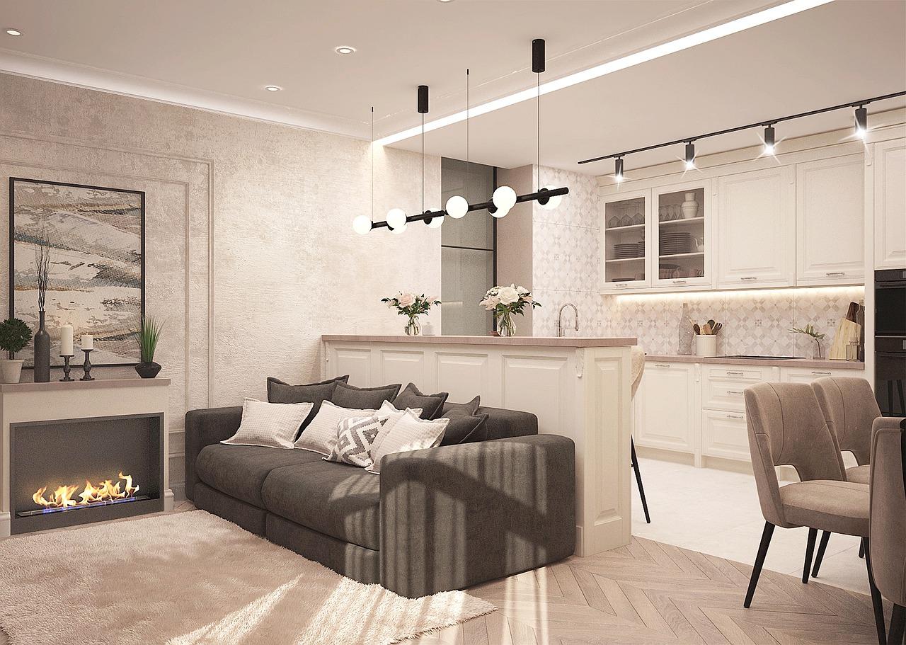 condo with modern lighting oakland