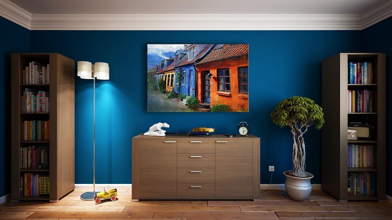 fresh painted room